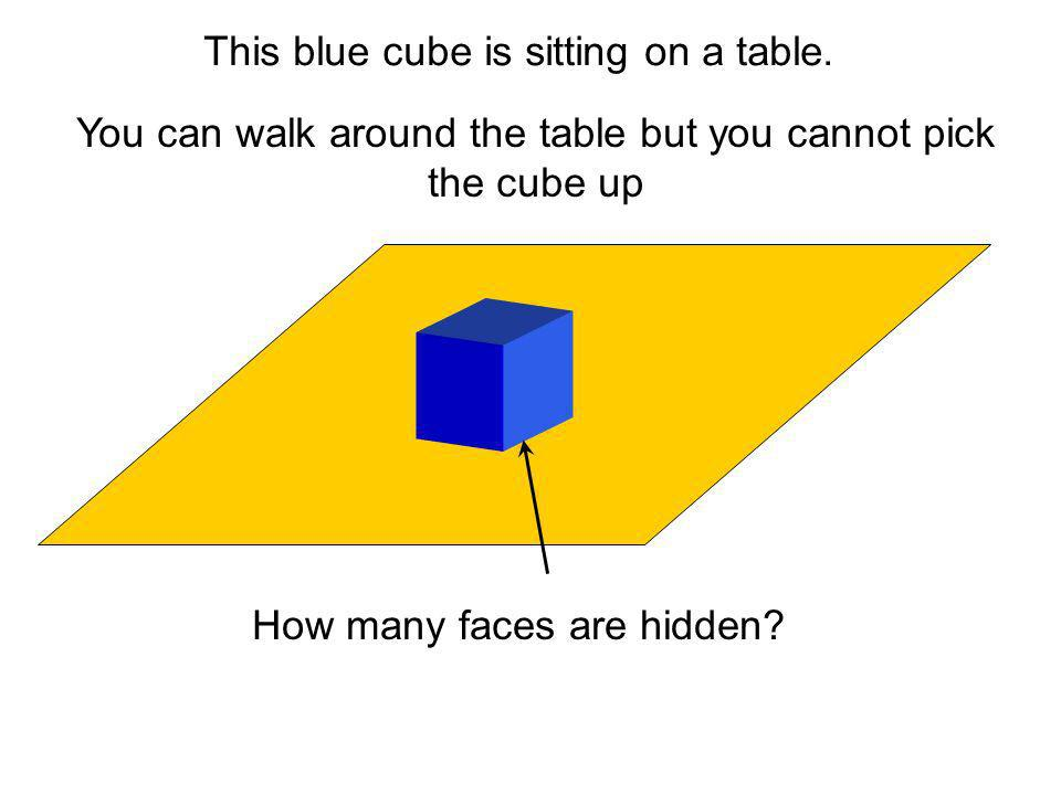 You can walk around the table but you cannot pick the cube up
