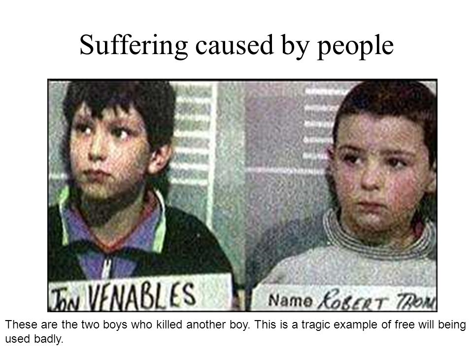 Suffering caused by people