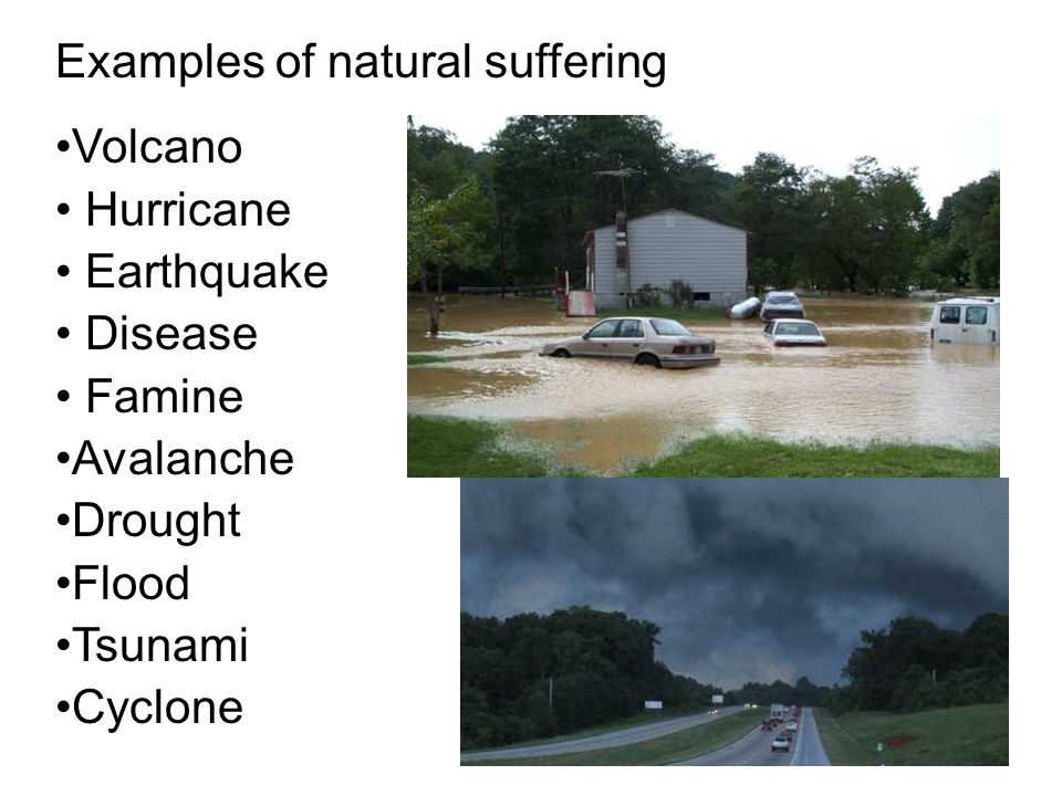 Examples of natural suffering