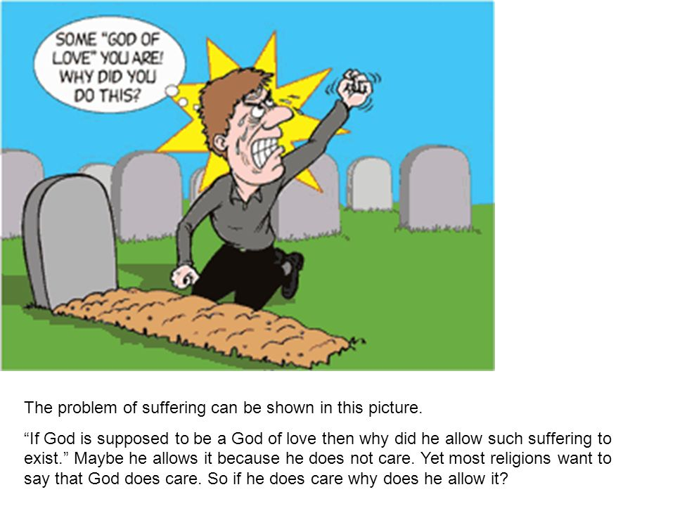 The problem of suffering can be shown in this picture.