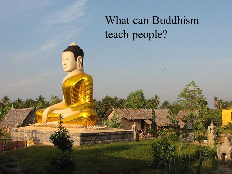 What can Buddhism teach people