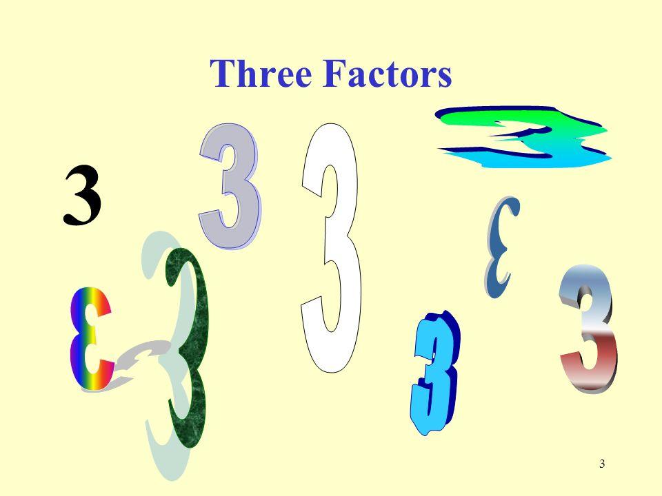 3 Three Factors 3 3 3 3 3 3 3 3