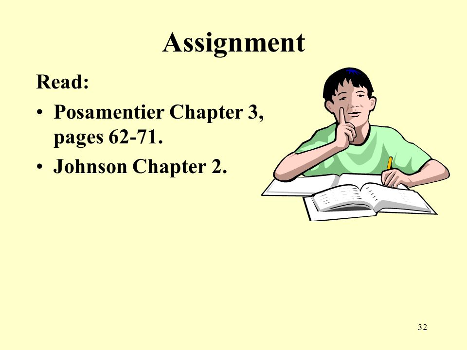 Assignment Read: Posamentier Chapter 3, pages 62-71.