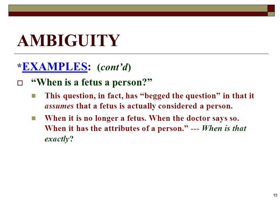 Iii Ambiguity Ppt Download