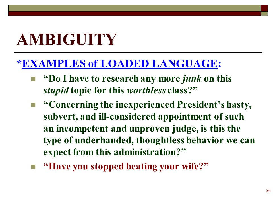 Iii Ambiguity Ppt Download