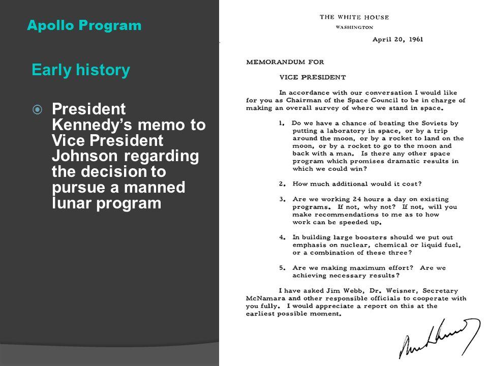 Apollo Program Early history.
