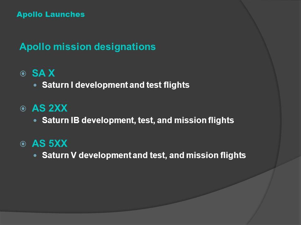 Apollo mission designations SA X