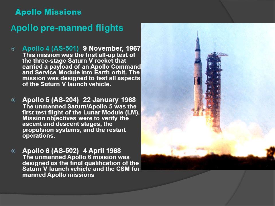 Apollo pre-manned flights
