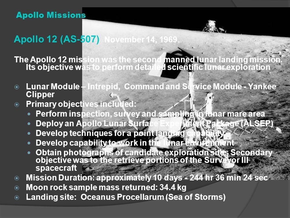 Apollo 12 (AS-507) November 14, 1969 Apollo Missions
