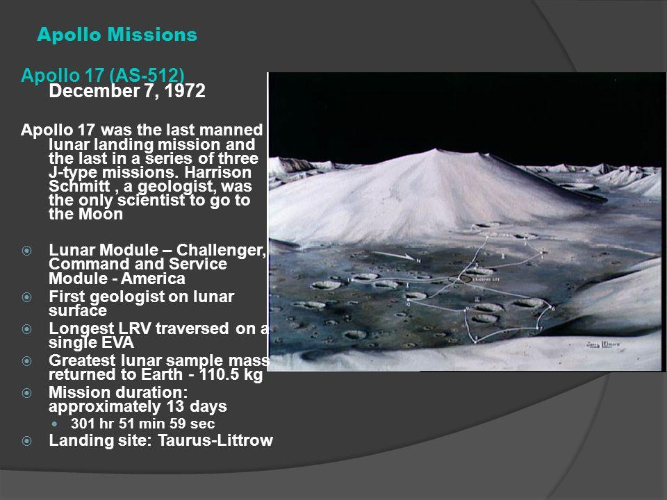 Apollo Missions Apollo 17 (AS-512) December 7, 1972
