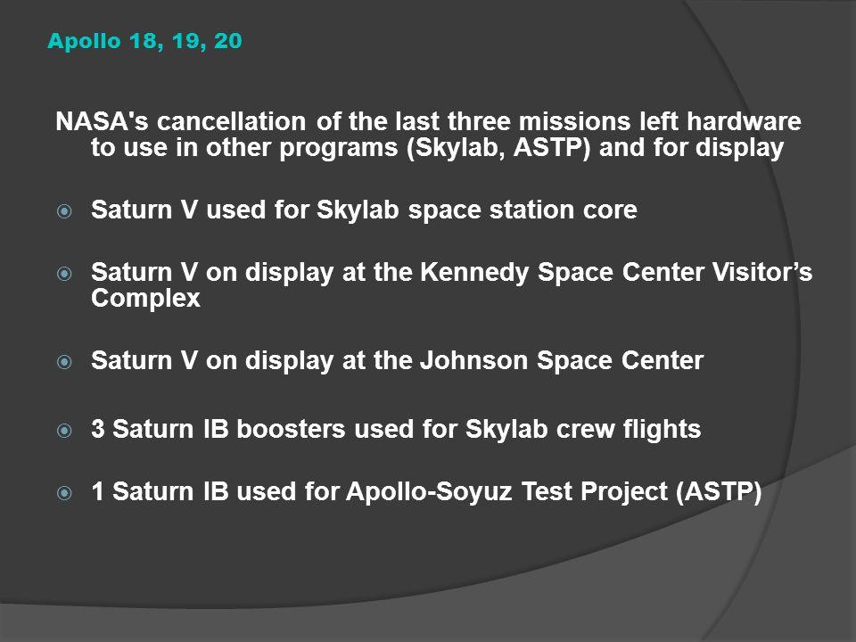 Saturn V used for Skylab space station core