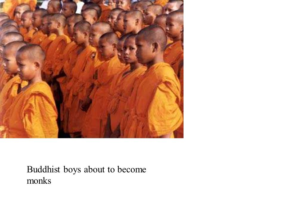 Buddhist boys about to become monks