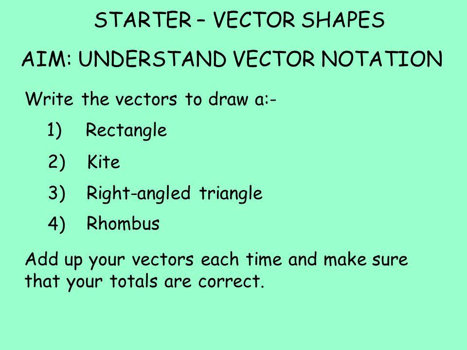 STARTER – VECTOR SHAPES