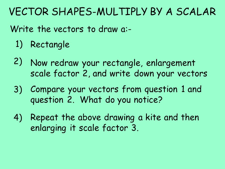 VECTOR SHAPES-MULTIPLY BY A SCALAR