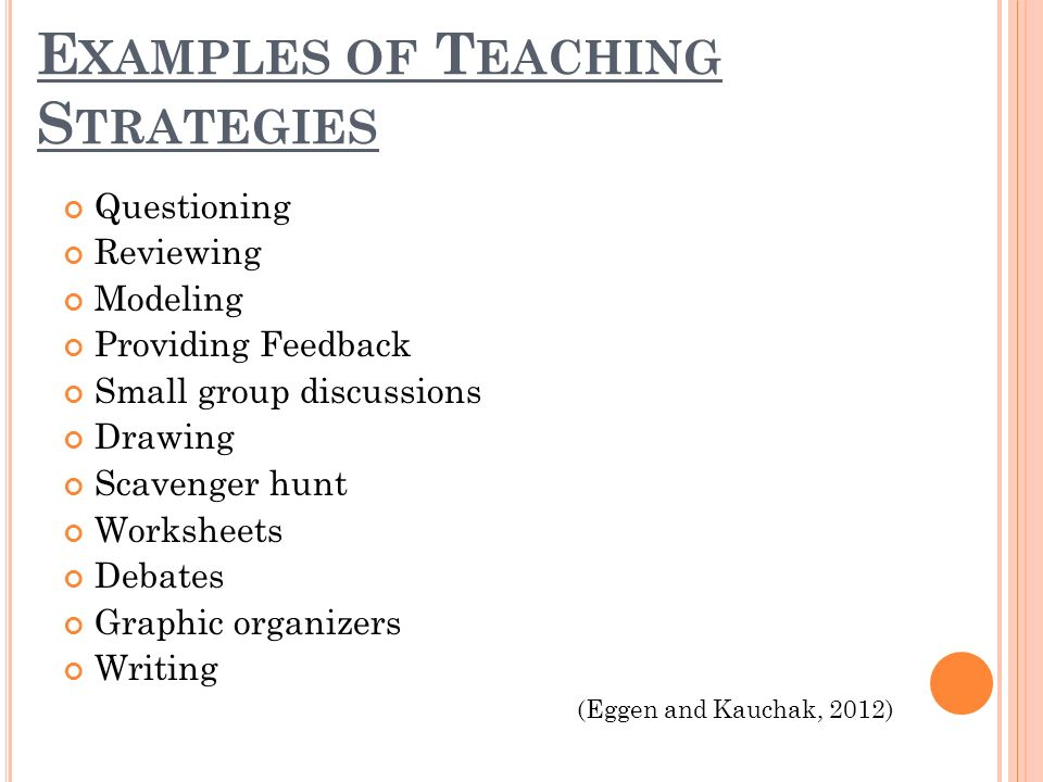 examples of instructional strategies for teaching pdf