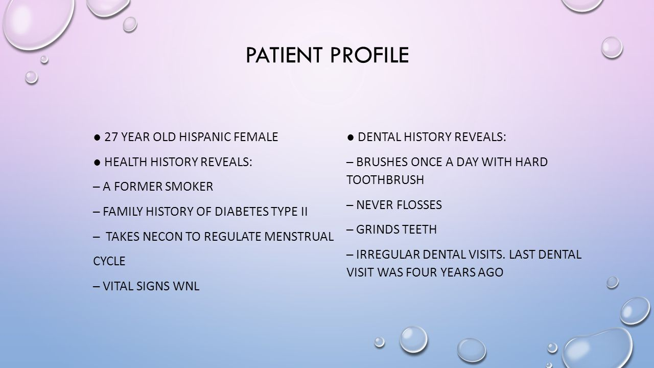 case study patient profile The following case study is based on a common patient profile using  epidemiological data and the following references and any similarity to individual  cases is.