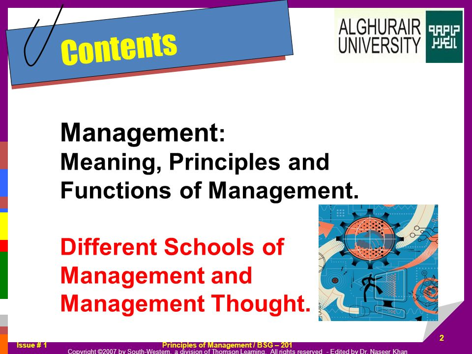 Contents Management: Meaning, Principles and Functions of Management.