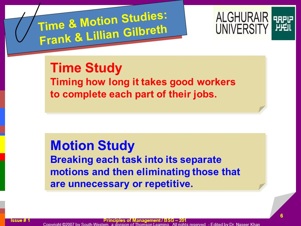 Time Study Motion Study