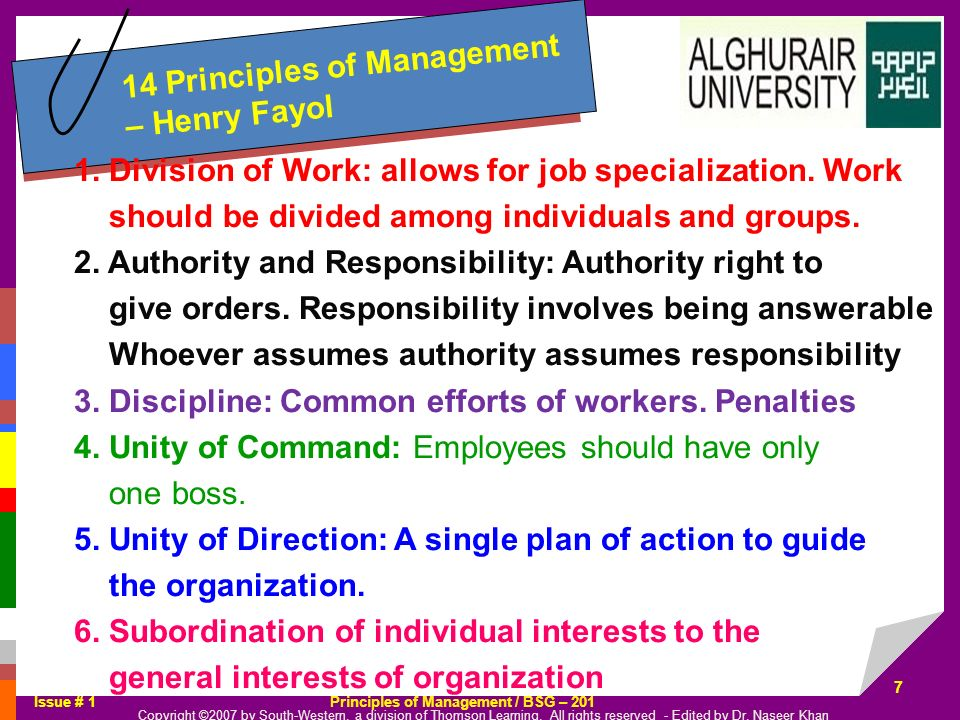 14 Principles of Management – Henry Fayol