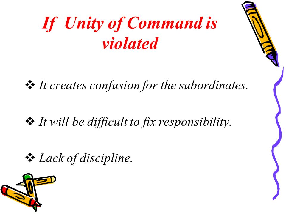 If Unity of Command is violated