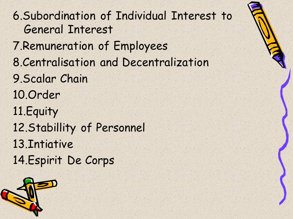 6.Subordination of Individual Interest to General Interest