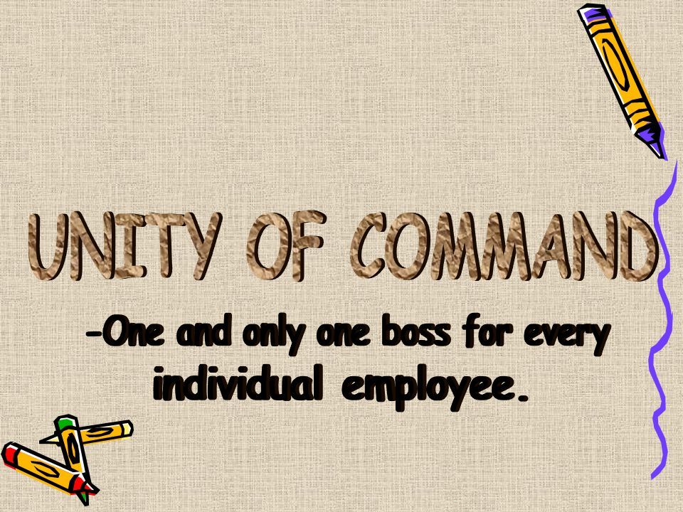 -One and only one boss for every