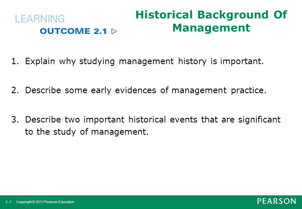 Historical Background Of Management