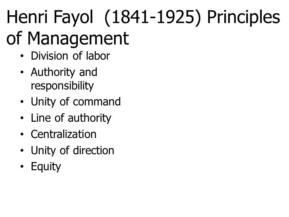 Henri Fayol (1841-1925) Principles of Management