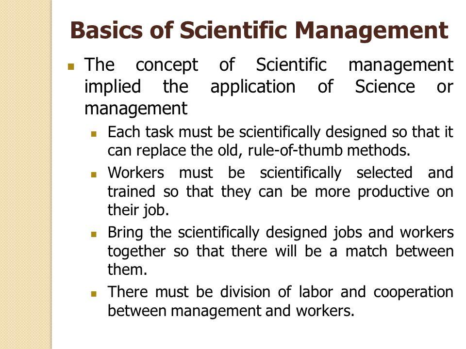 Basics of Scientific Management