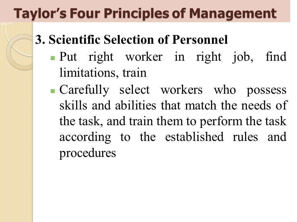 Taylor's Four Principles of Management