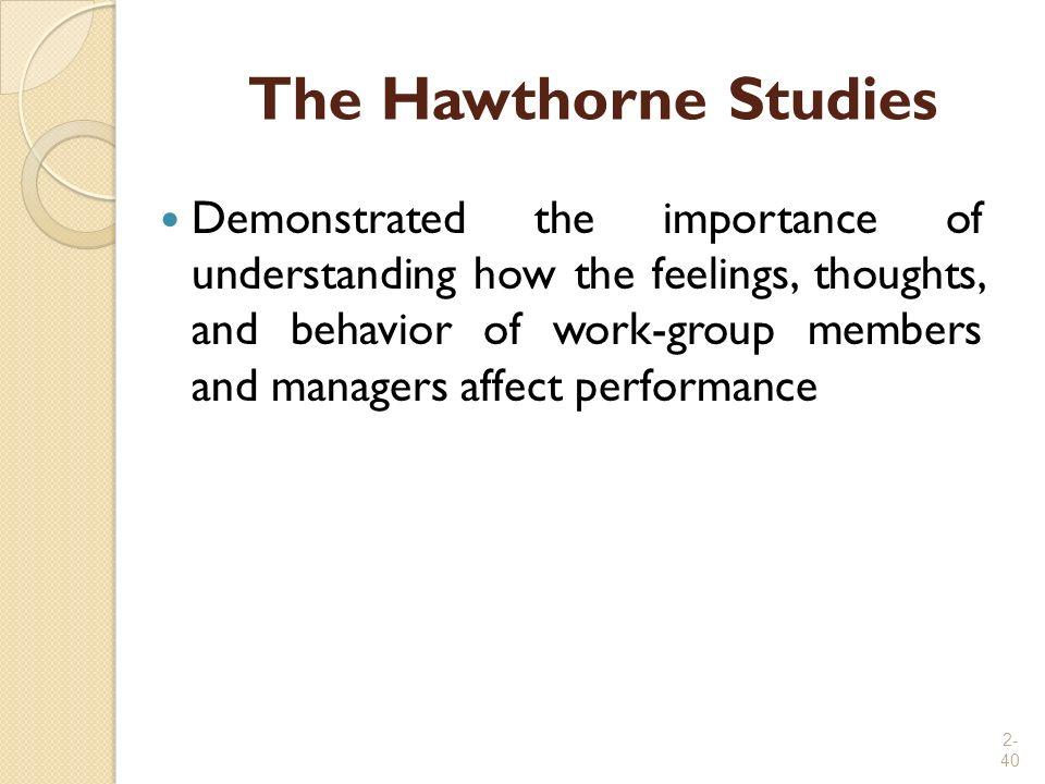 The Hawthorne Studies