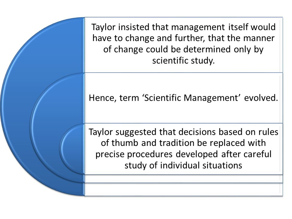 Hence, term 'Scientific Management' evolved.