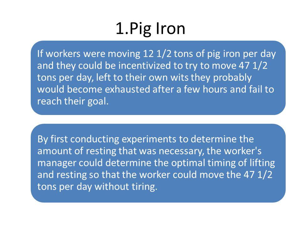 1.Pig Iron