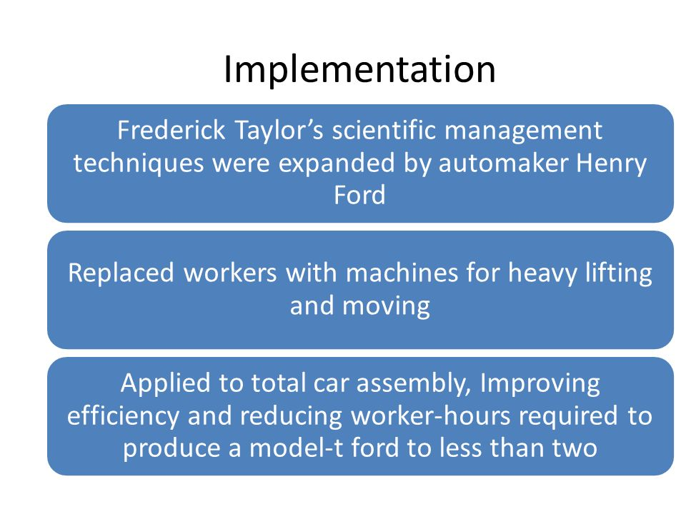 Replaced workers with machines for heavy lifting and moving