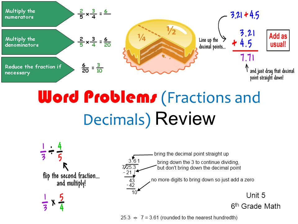 Grade 6 math word problems fractions