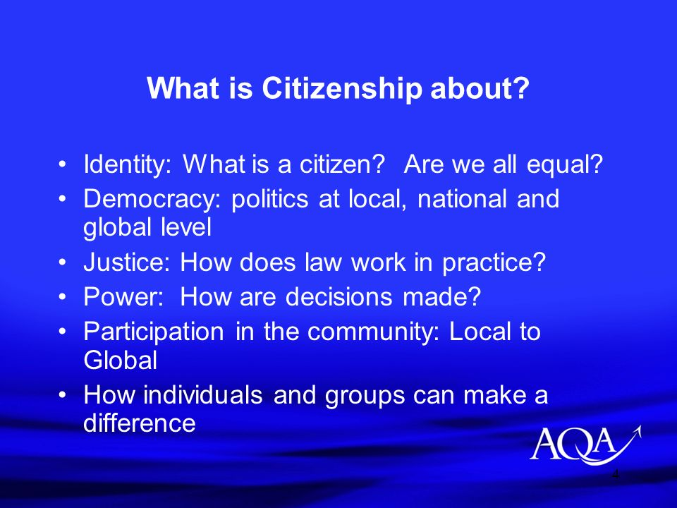 What is Citizenship about