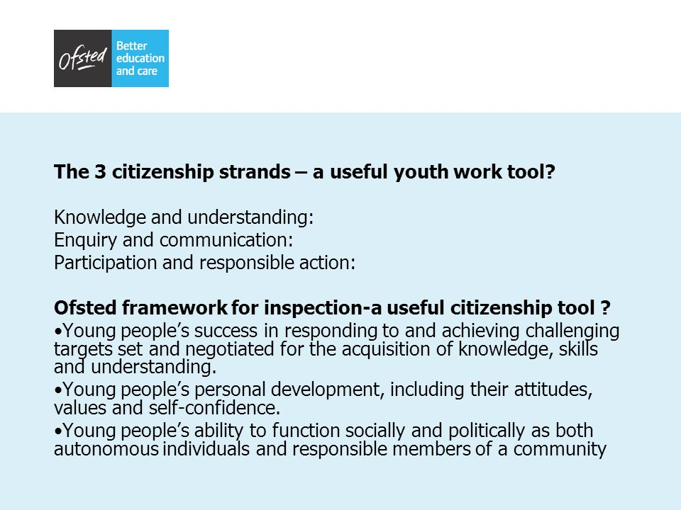 The 3 citizenship strands – a useful youth work tool