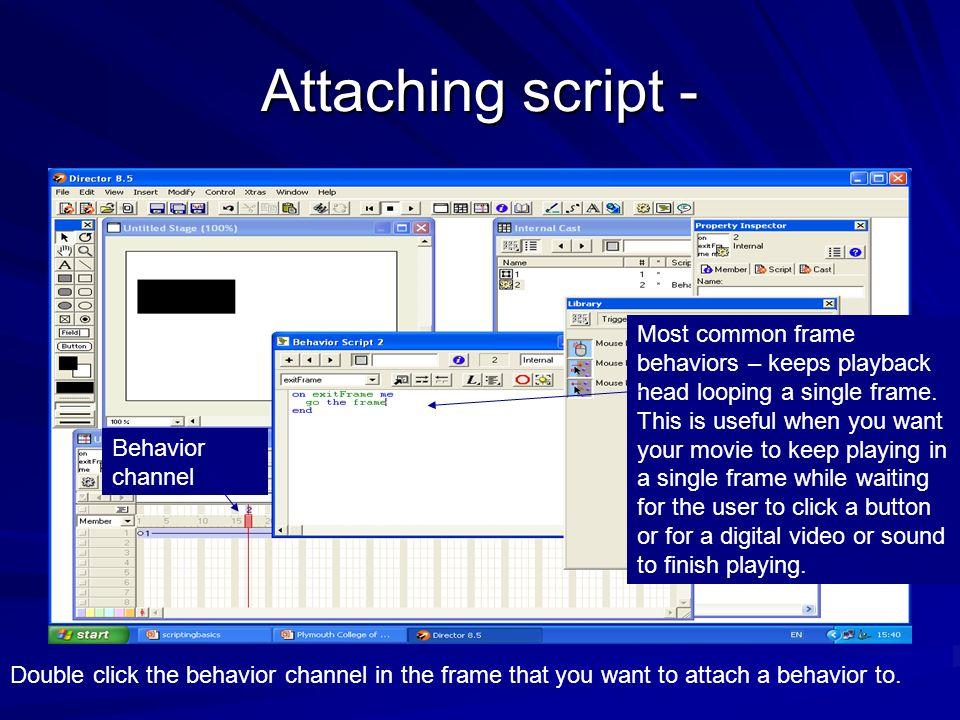Attaching script -
