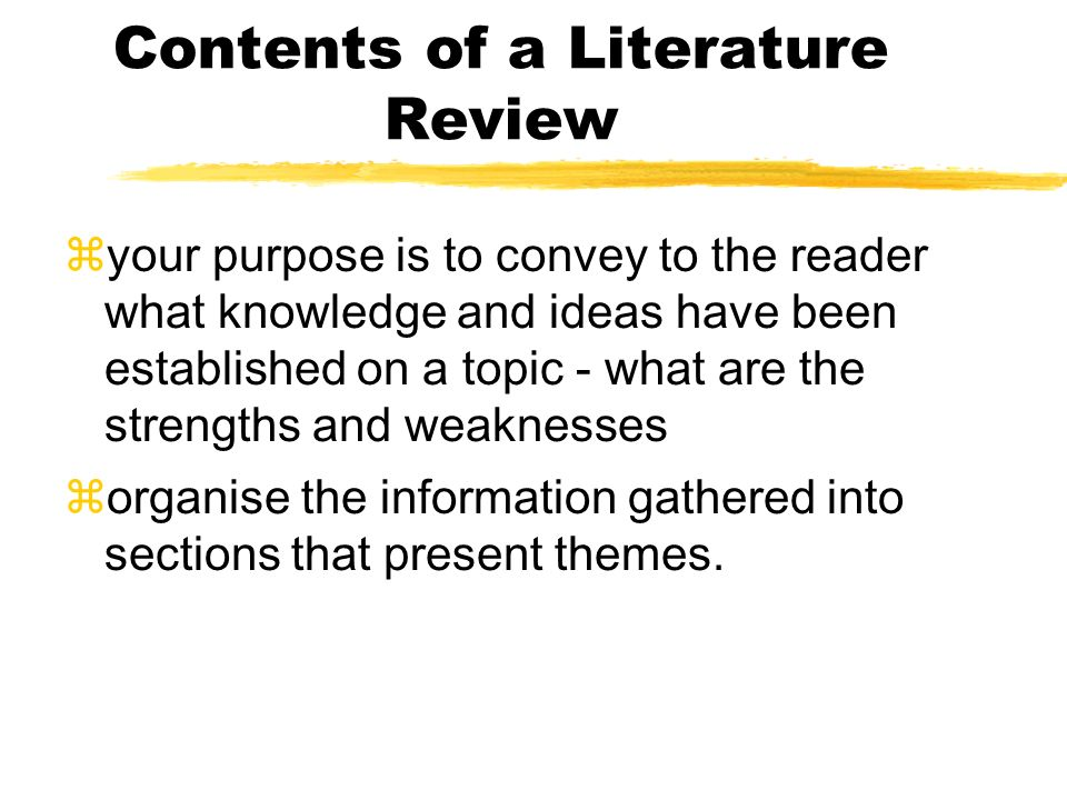 literature review limitations