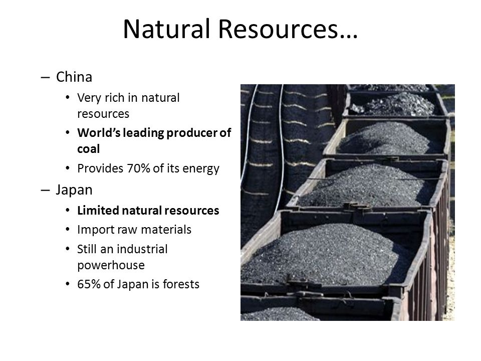 Limited Natural Resources In Japan