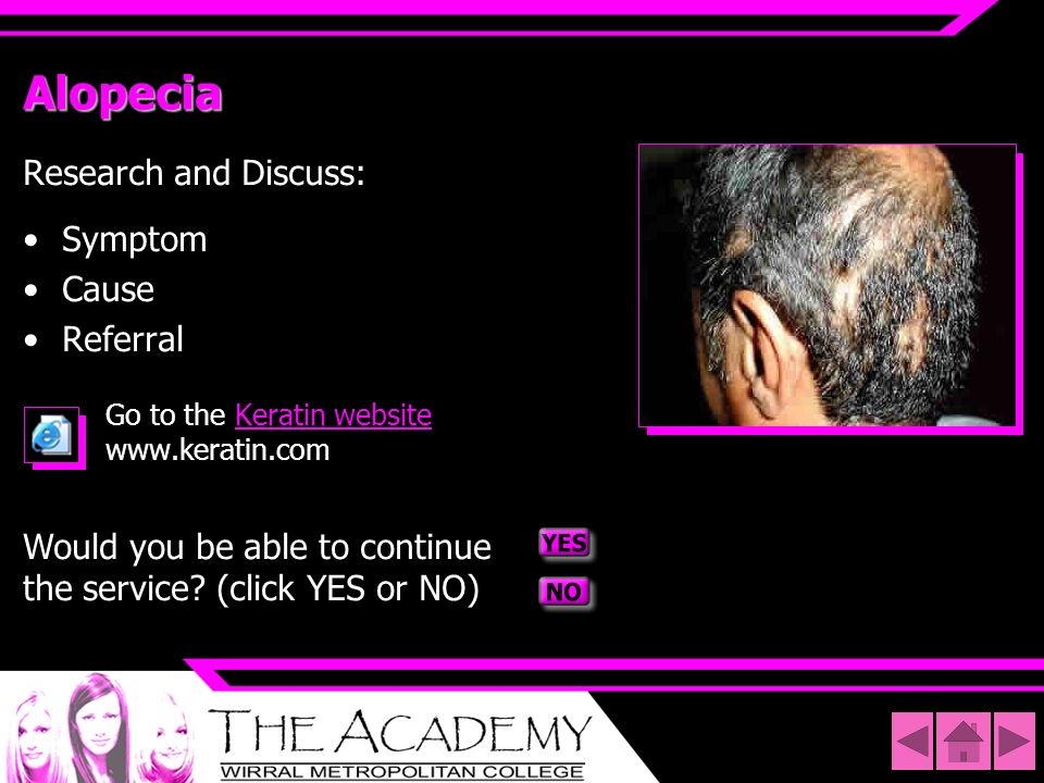 Alopecia Research and Discuss: Symptom Cause Referral