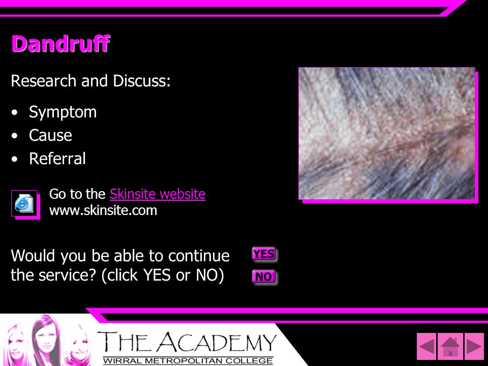 Dandruff Research and Discuss: Symptom Cause Referral