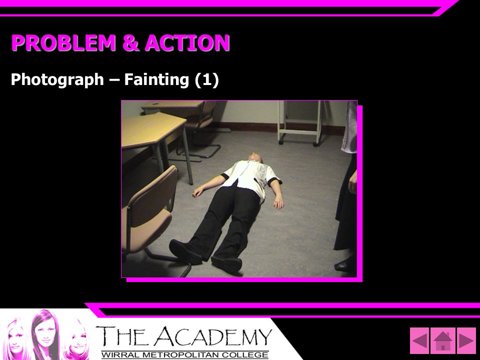 PROBLEM & ACTION Photograph – Fainting (1)