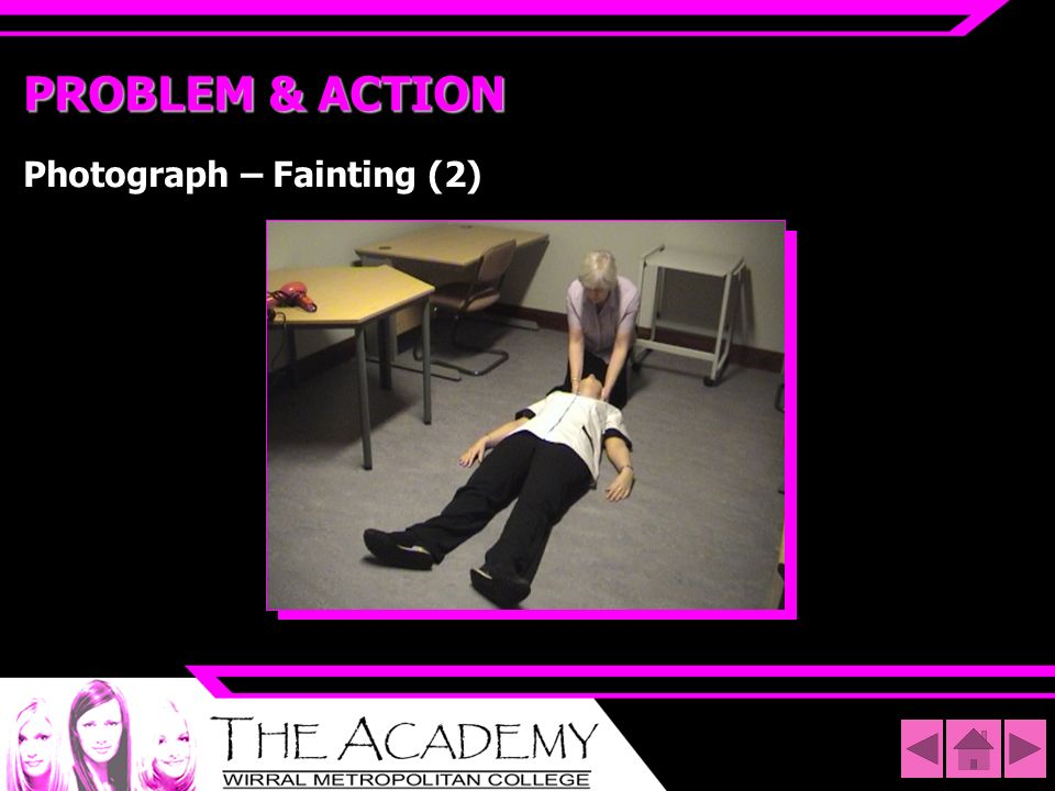 PROBLEM & ACTION Photograph – Fainting (2)
