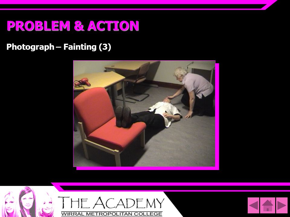 PROBLEM & ACTION Photograph – Fainting (3)