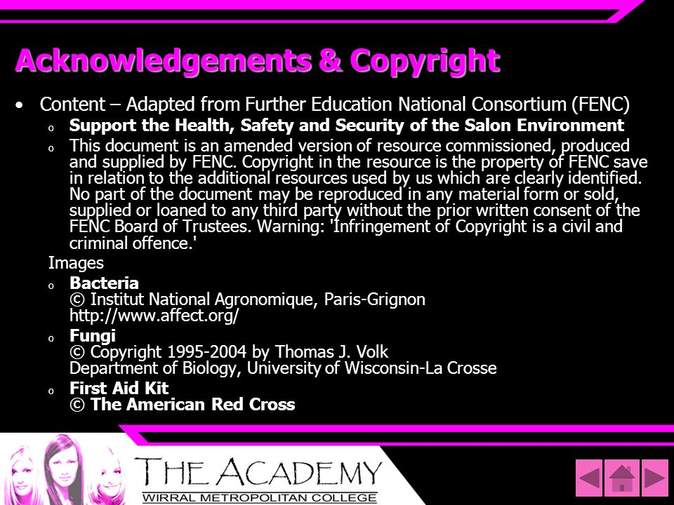 Acknowledgements & Copyright