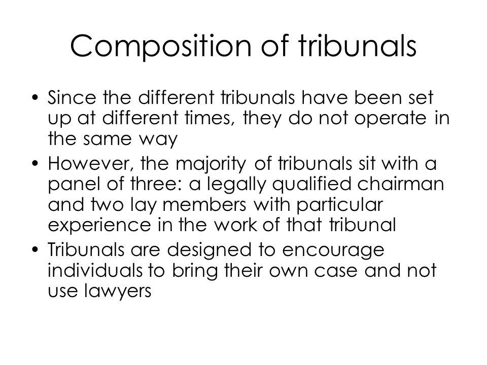 Composition of tribunals
