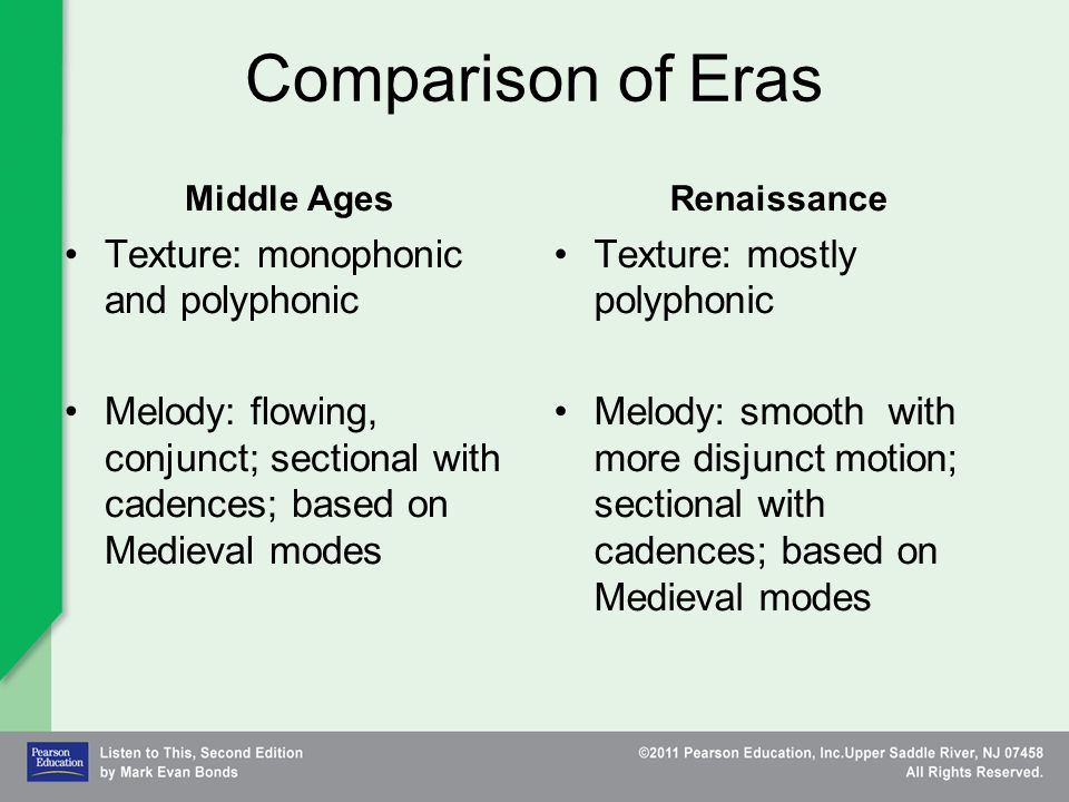 a comparison of the medieval and renaissance eras Renaissance philosophy and other greek commentators were added to the views of arabic and medieval (a comparison of the philosophers aristotle.