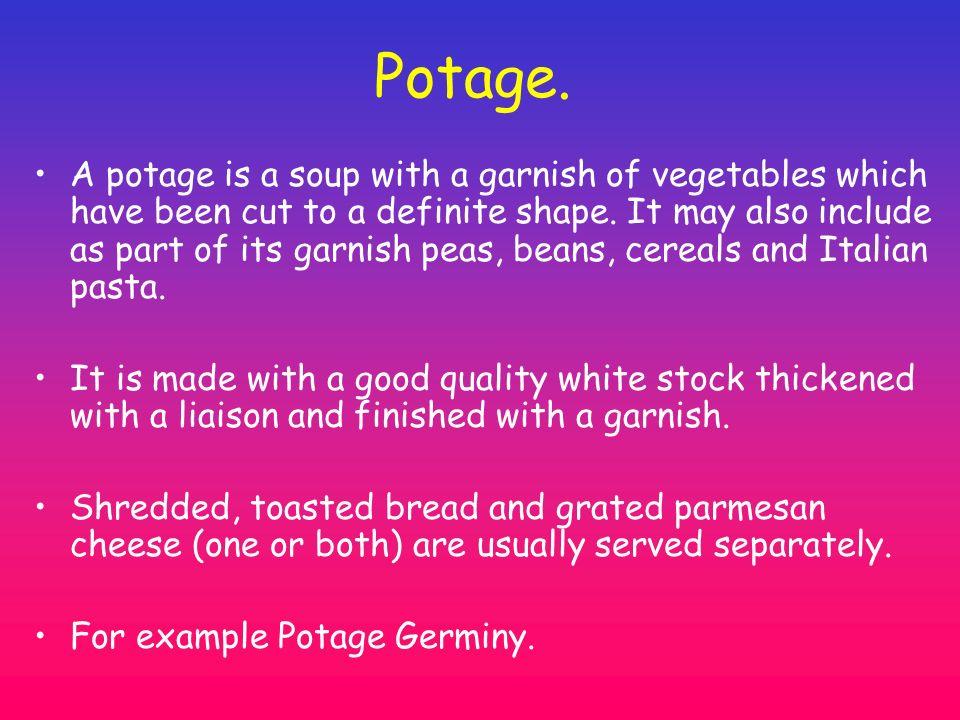 Potage.
