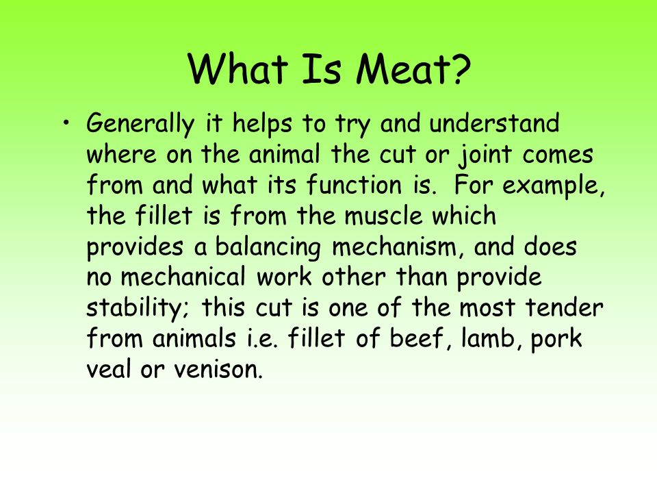 What Is Meat